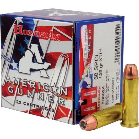 Hornady American Gunner .38 Special Ammunition 25 Rounds XTP HP 125 Grains 90324