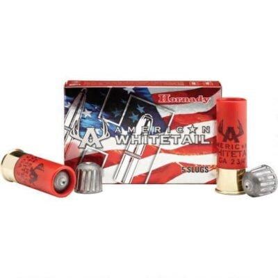 """Hornady 12 Gauge Ammunition 5 Shells 2.75"""" Rifled Slug 1 Ounce 86234"""