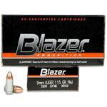 CCI Blazer 9mm Luger Ammunition 50 Rounds FMJ 115 Grains 3509