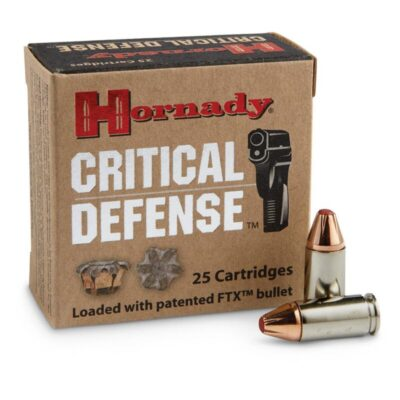 Hornady 9mm Luger Ammunition 25 Rounds FTX HP 115 Grains