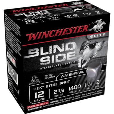 "Winchester Blind Side 12 Gauge Ammunition 25 Rounds, 2.75"", Hex Steel #2"