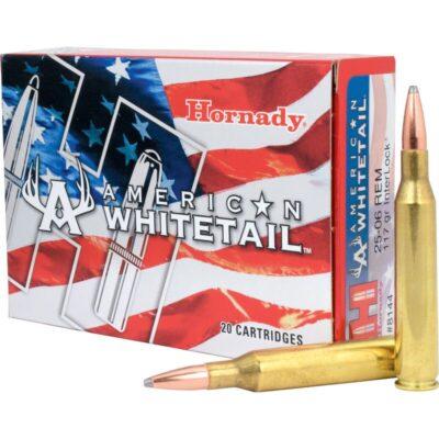 Hornady .25-06 Remington Ammunition 20 Rounds BTSP 117 Grains