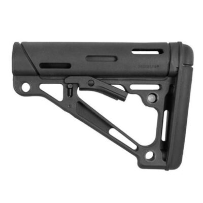 Hogue AR-15 Collapsible Carbine Buttstock Mil-Spec OverMolded Black 15040