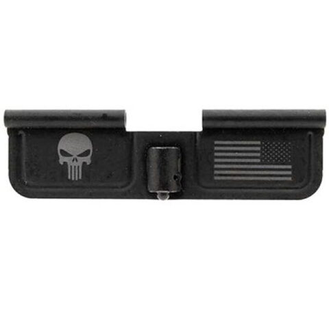 Spike's Tactical AR-15 Ejection Port Door Cover Punisher Steel Black SED7005