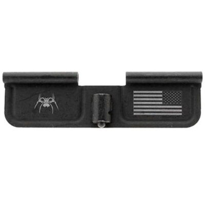 Spike's Tactical AR-15 Ejection Port Door Cover Spider/Flag Steel Black SED7010