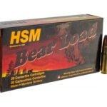 HSM Bear Ammunition 458 SOCOM 350 Grain Jacketed Flat Nose Box of 20