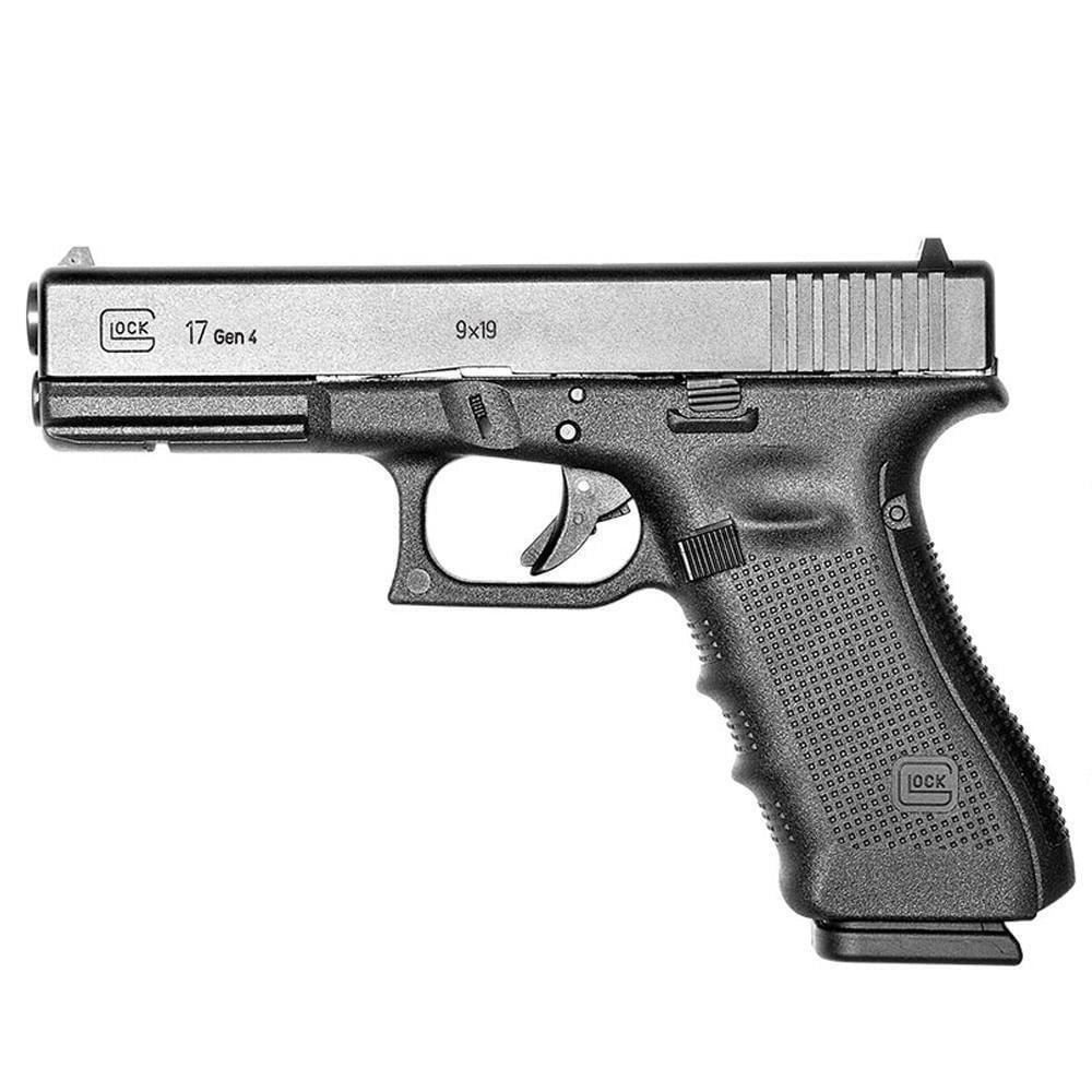 "GLOCK 17 Gen4 9mm Semi Auto Pistol, 4.49"" Barrel 17 Rounds, Black"
