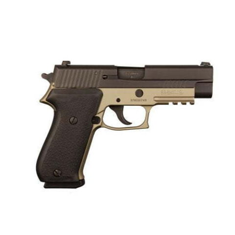 Sig P220 Desert Black Full Size 45acp 4.4 NS 798681565535 Davidson's Lifetime Warranty