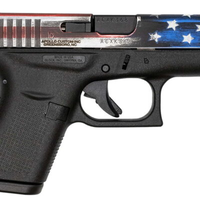 Glock 42 380 Auto Single Stack Pistol with American Flag Slide