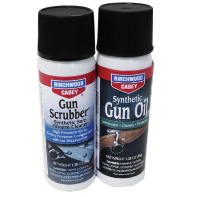 GUN SCRUBBER® & SYNTHETIC GUN OIL AEROSOL COMBO PACK, 1.25 FL. OZ. EACH