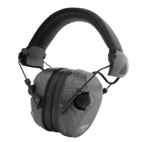 Birchwood Casey EKREST Electronic Muff Hearing Protector 26 NRR Black Carbon Fiber