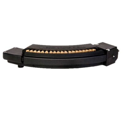 HC Mags Ruger 10/22 Magazine 25 Rounds Composite Body Stainless Steel Feed Lip Extra Stripper Clip Black HC3R-22-MAG