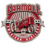 Farmall American Heritage Embossed Metal Die-Cut Sign 15.3 x 14 in.