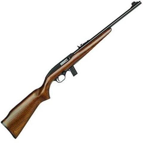 "Mossberg 37150 702 Plinkster Semi-Auto 22 LR 18"" 10+1 Wood Stock Blued"