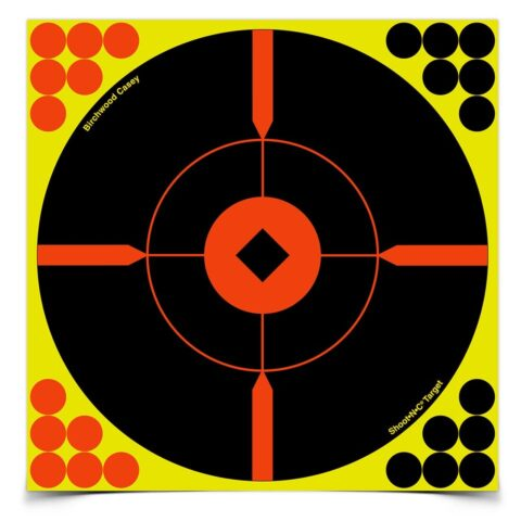 SHOOT•N•C® 8 INCH BULL'S-EYE BMW, 6 TARGETS - 24 PASTERS