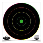DIRTY BIRD® 8 INCH MULTI-COLOR BULL'S-EYE TARGET, 20 TARGETS