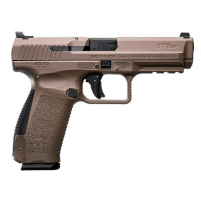 "Canik TP9SF 9mm Luger Semi Auto Pistol 4.46"" Barrel 10 Rounds Warren Tactical Sights Picatinny Rail Polymer Frame Desert Finish"