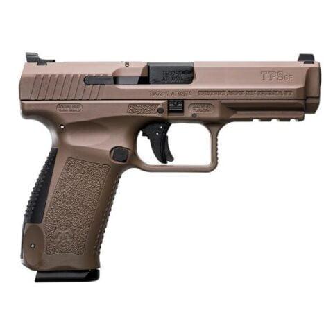 "Canik TP9SF 9mm Luger Semi Auto Pistol 4.46"" Barrel 10 Rounds Warren Tactical Sights Picatinny Rail Polymer Frame Desert Finish"