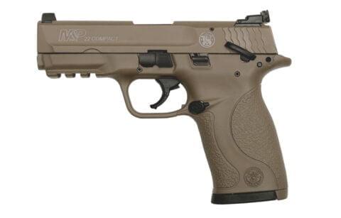 Smith & Wesson M&P22 Compact 22LR Rimfire Pistol with FDE Cerakote Finish
