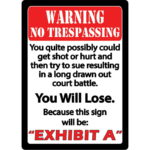 "River's Edge Products ""Exhibit A"" Tin Sign 12 Inches by 17 Inches"