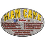 """Rivers Edge """"MAN CAVE RULES"""" Sign, 12 x 17 in."""