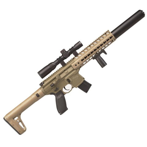 SIG Sauer MCX ASP .177 Caliber Air Rifle with 1-4x24 Scope, Flat Dark Earth