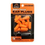 Walkers Foam Ear Plug w/Black Aluminum Carry Canister, 32 dB NRR, 7-Pairs, Neon Orange GWP-PLGCAN-OR