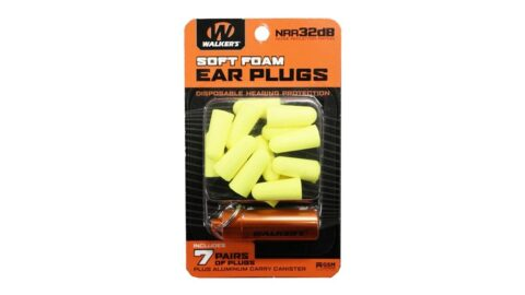 Walkers Foam Ear Plug w/Orange Aluminum Carry Canister, 32 dB NRR, 7-Pairs, Neon Yellow GWP-PLGCAN-YL