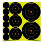 Birchwood Casey Shoot-N-C 1 in., 2 in., 3 in. Bulls-Eye Targets (72 - 1 in., 36 - 2 in. and 24 - 3 in.) 12 Sheets