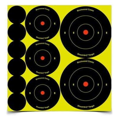 Birchwood Casey Shoot-N-C 1 in., 2 in., 3 in. Bulls-Eye Targets (72 - 1 in., 36 - 2 in. and 24 - 3 in.) 12 Sheets