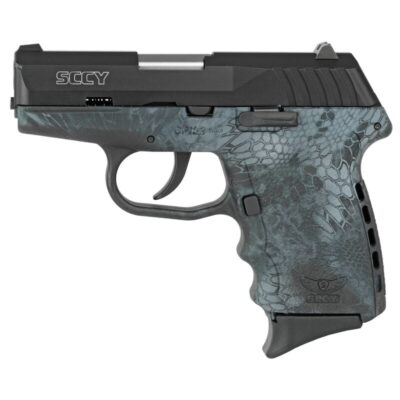 "SCCY Industries CPX-2 Semi Auto Handgun 9mm Luger 3.1"" Barrel 10 Rounds 3 Dot Sights Kryptek Typhon Frame with Matte Black Slide"