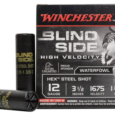 Winchester 12 GA 3 1/2 Inch 1 3/8 oz 2 Shot Blind Side High Velocity 25/Box