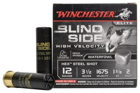 Winchester 12 GA 3 1/2 Inch 1 3/8 oz 2 Shot Blind Side High Velocity 25/Box