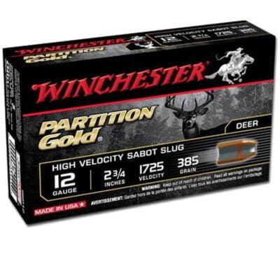 """Winchester Partition Gold 12 Ga 2.75"""" 385gr Sabot Slug 5rds"""