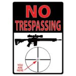 "River's Edge Products ""No Trespassing You Are Here"" Sign Tin 12 by 17 Inches 1498"