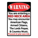 "Rivers Edge Products ""Redneck Zone"" Tin Sign, 12""x17"", 1518"