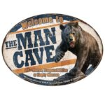 "River's Edge Products ""Man Cave"" Novelty Sign Tin 12 Inches by 17 Inches 1564"
