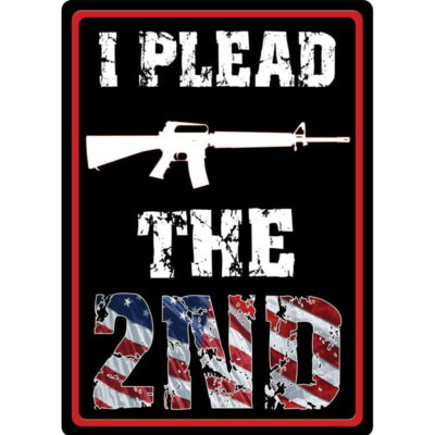 """River's Edge Products """"I Plead The 2nd"""" Tin Sign 12 Inches by 17 Inches 1598"""