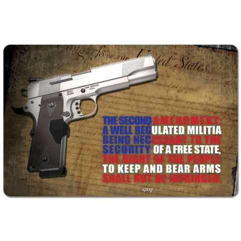"""TekMat """"Right To Bear Arms"""" Armorers Bench Mat 11""""x17""""x1/8"""" Neoprene 17-2AMEND"""