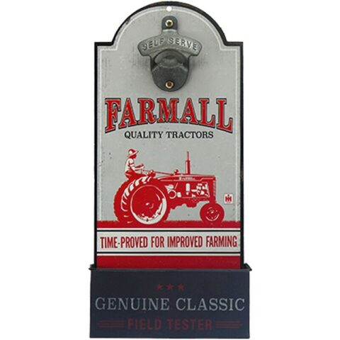 """Open Road Brands """"Farmall"""" MDF Wood Sign with Bottle Opener 6""""x13"""""""