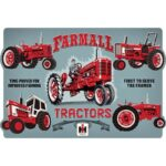 "Open Road Brands ""Farmall Evolution"" Embossed Tin Sign 18″x12″"