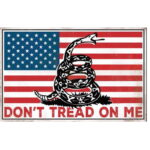 "Open Road Brands Don't Tread on Me Tin Sign 9""H x 14""W Embossed"