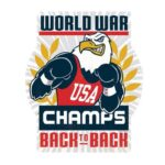 "Open Road Brands World War Champs Back To Back Tin Sign 12""H x 10""W Embossed"