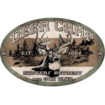 "River's Edge Products ""Deer Camp"" Tin Sign 12 x 17 Inches 1535"