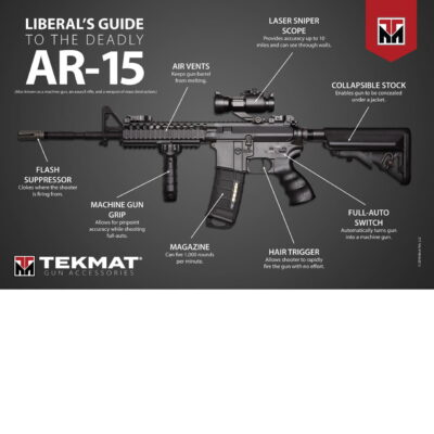 "Liberal's Guide to the AR-15 Poster - 24"" x 36"""