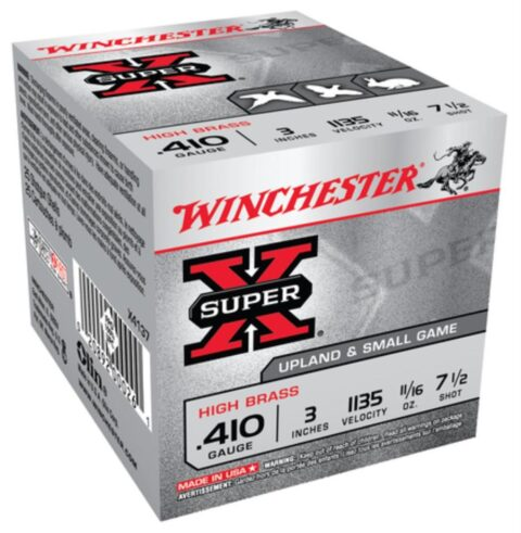 "Winchester 5 Super-X High Brass 410 ga 3"" 11/16 oz 7.5 Shot 25Box"
