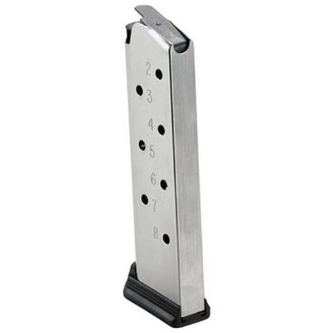 Ruger 1911 Magazine 45 ACP 8rd Stainless Finish