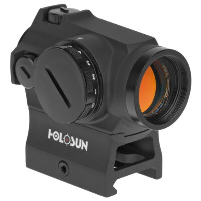 Holosun HS403R Rheo Stat Dial Micro Red Dot Sight 1x 2 MOA Dot Weaver-Style Low & Lower 1/3 Co-Witness Mount Matte