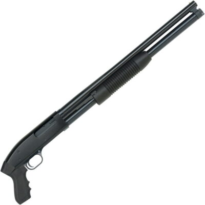 "Mossberg Maverick 88 Cruiser 12 Gauge Pump Action Shotgun 7 Rounds 20"" Barrel 3"" Chamber Synthetic Pistol Grip and Forend Blued Finish"