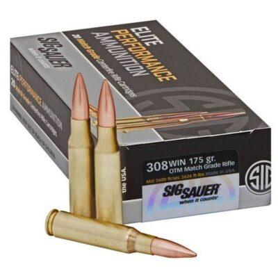 SIG Sauer Elite Performance .308 Winchester Ammunition 20 Rounds 175 Grain Open Tip Match 2600fps